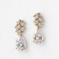 Marquise Flora Teardrop Earrings