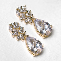 Marquise Flora Teardrop Earrings - Amy O. Bridal