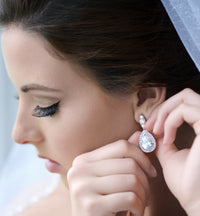 Margaux Lux Teardrop Earrings - Amy O. Bridal
