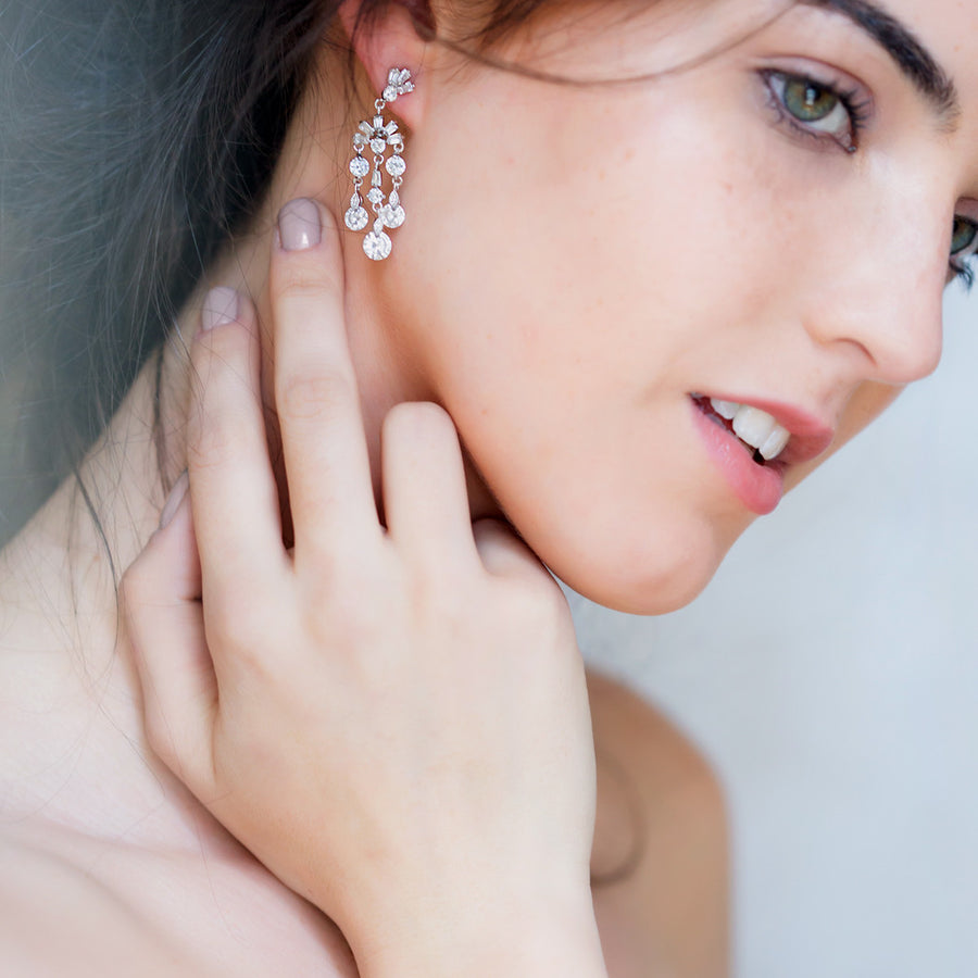 Deco Dainty Drop Earrings - Amy O. Bridal