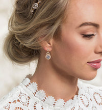 Sophia Crystal Drop Earrings - Amy O. Bridal