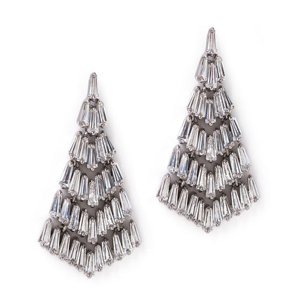 Baguette Chandelier Earrings