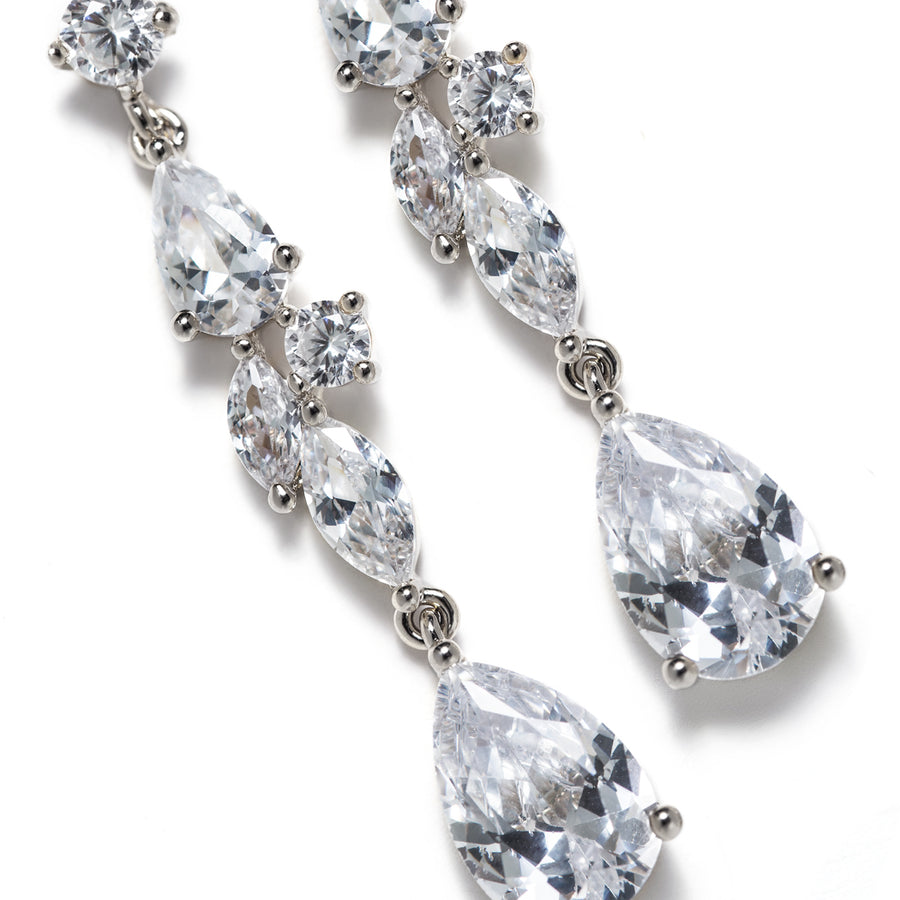 Mosaic Crystal Drop Earrings