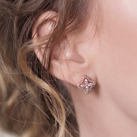 Arpels Rose Gold Stud Earrings
