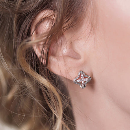 Arpels Silver Stud Earrings