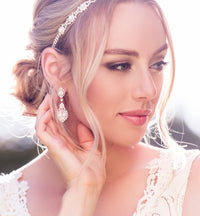 Cleo Crystal Drop Earrings - Amy O. Bridal