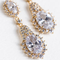 Cleo Crystal Drop Earrings