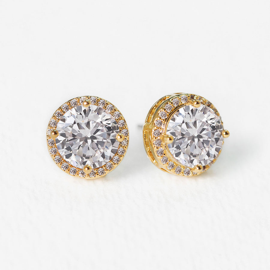Sophia Round Crystal Stud Earrings