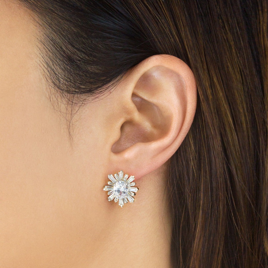 Deco Stud Earrings - Amy O. Bridal