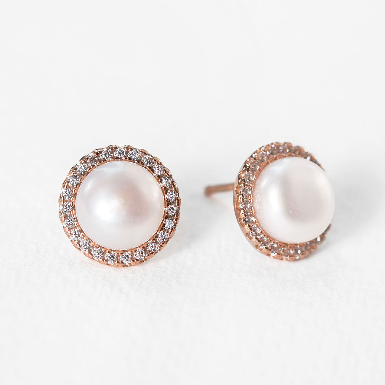 Perla Classic CZ Stud Earrings