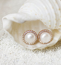 Perla Classic CZ Stud Earrings - Amy O. Bridal