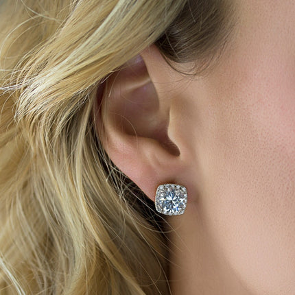 Beau Cushion Stud Earrings