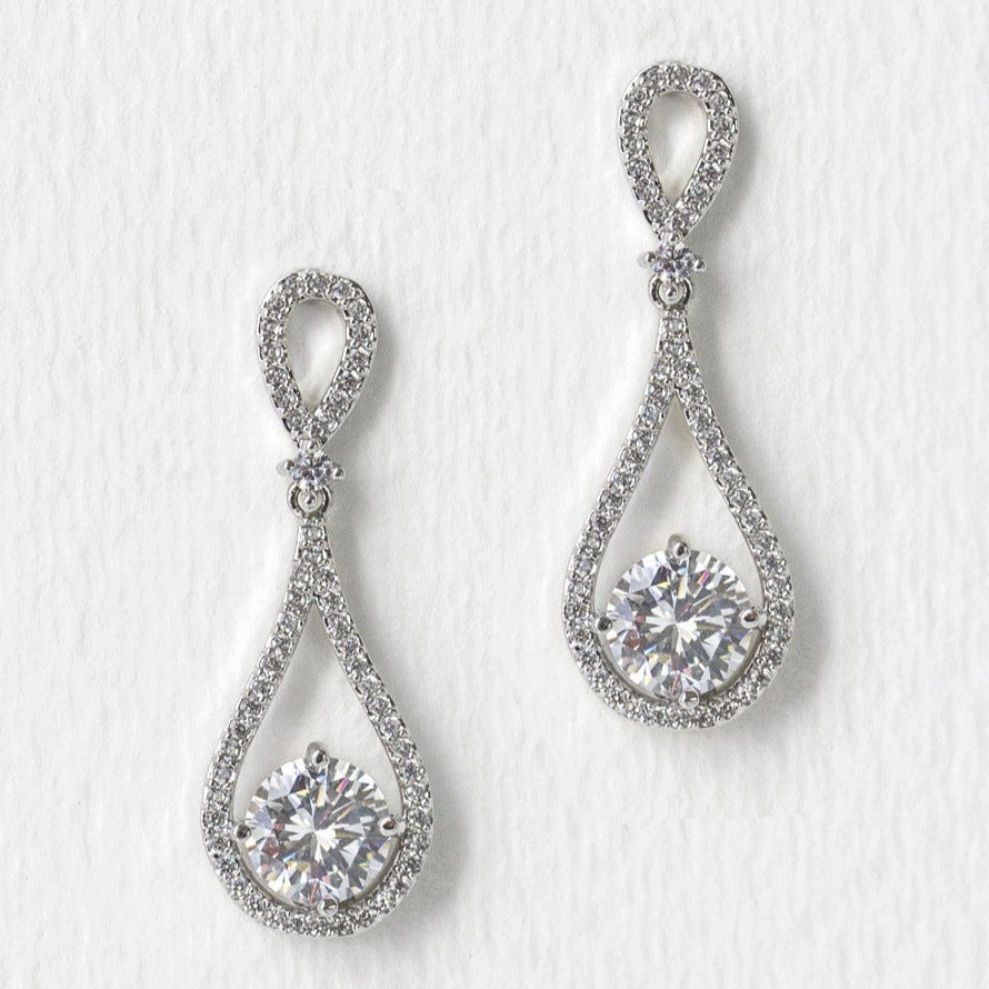 Sophia Classic Drop Earrings - Amy O. Bridal