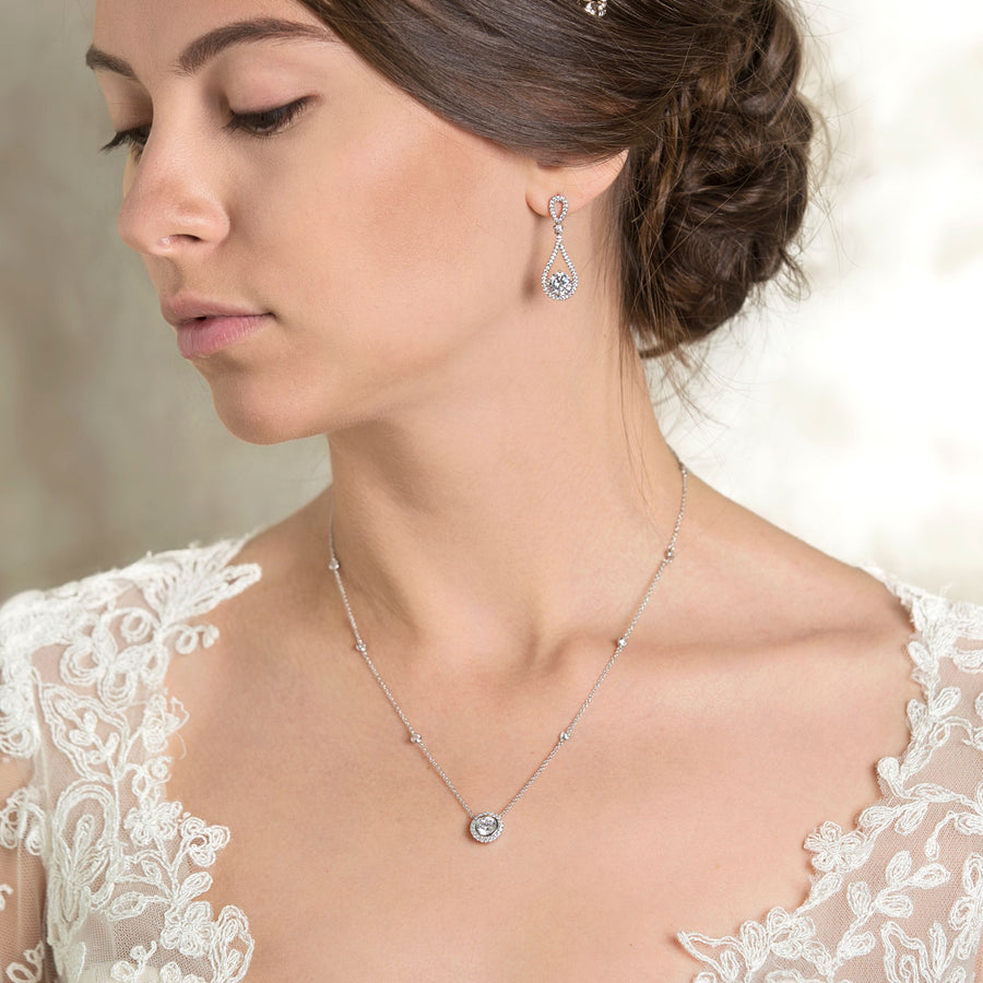 Sophia Crystal Chain Necklace - Amy O. Bridal