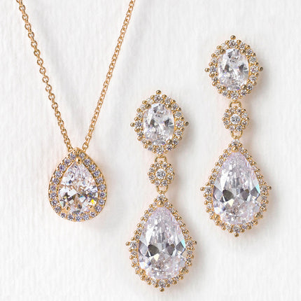 Cleo Pear Drop Jewelry Set