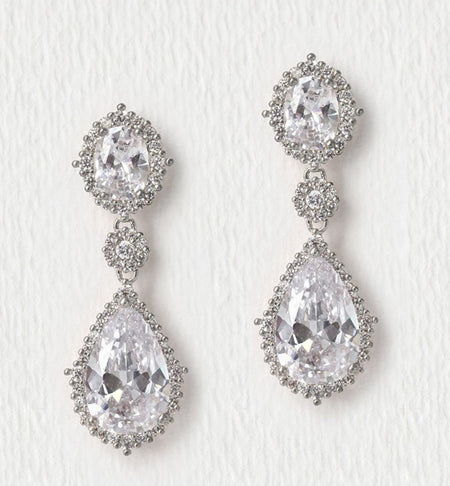 Cleo Droplet Earrings - Amy O. Bridal