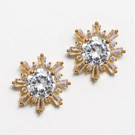 Deco Star Stud Earrings