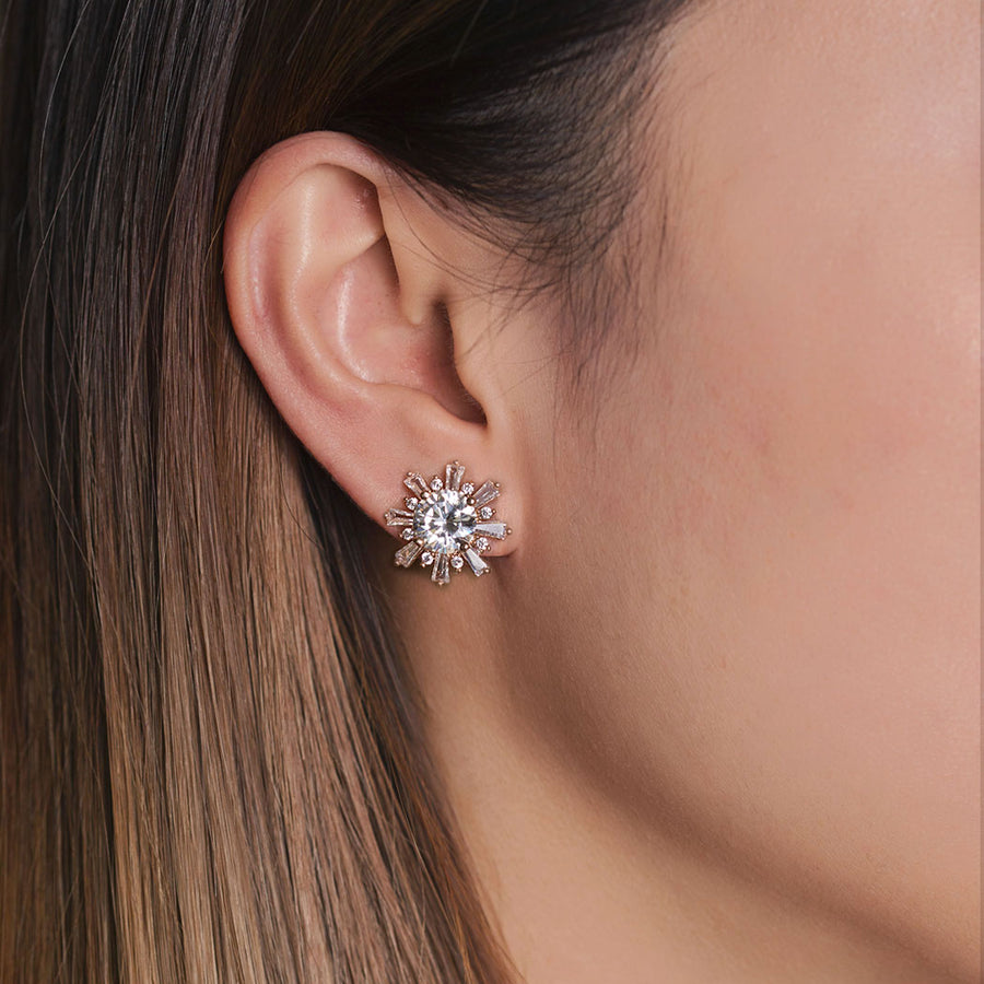 Deco Star Stud Earrings - Amy O. Bridal