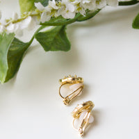 Flora Clip On Stud Earrings - Amy O. Bridal