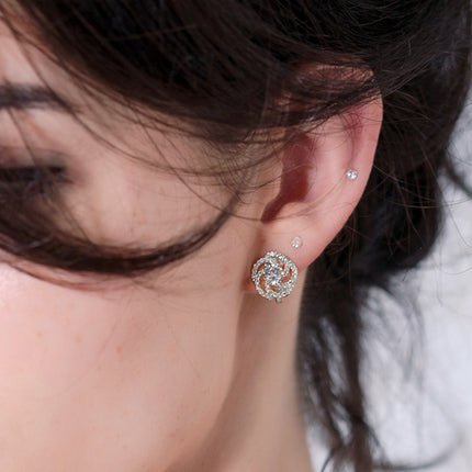 Flora Clip On Stud Earrings