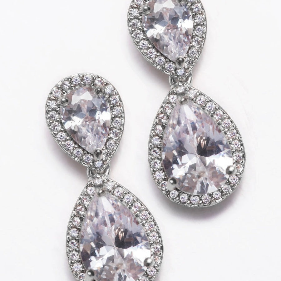 Margaux Classic Teardrop Earrings - Amy O. Bridal