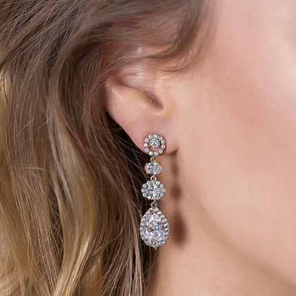 Delilah Crystal Drop Earrings