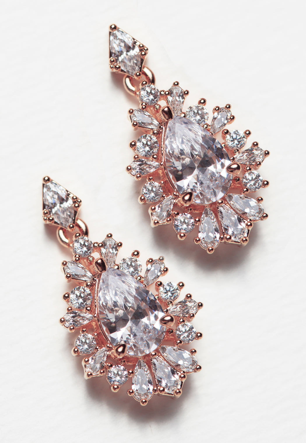 Deco Teardrop Earrings - Amy O. Bridal