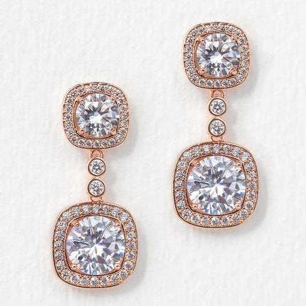 Beau Cushion Drop Earrings