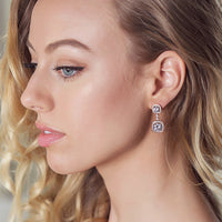 Beau Cushion Drop Earrings - Amy O. Bridal