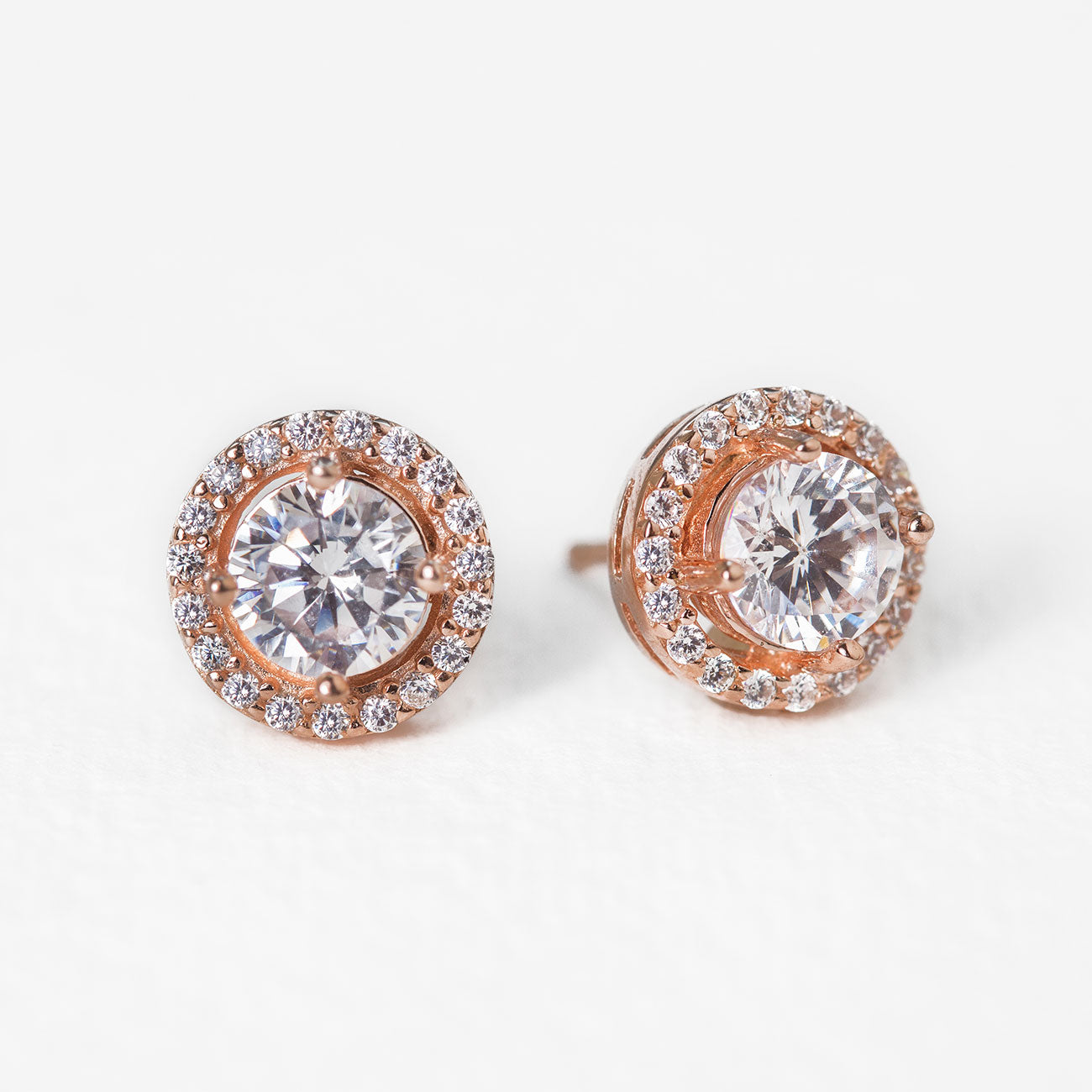 Sophia Halo Stud Earrings