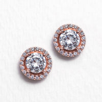 Sophia Halo Stud Earrings - Amy O. Bridal