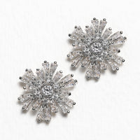 Deco Star Crystal Stud Earrings - Amy O. Bridal