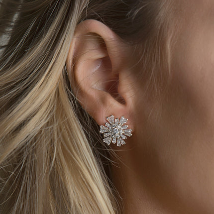 Star Crystal Stud Earrings