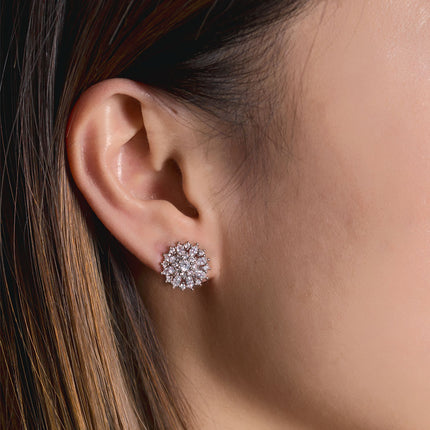 Ray Crystal Stud Earrings