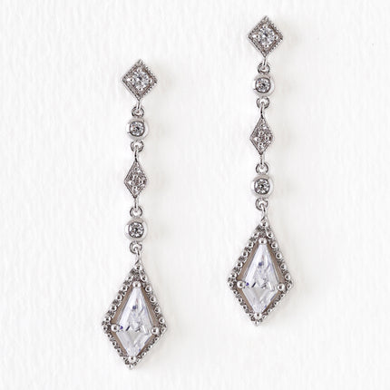 Regal Lozenge Drop Earrings