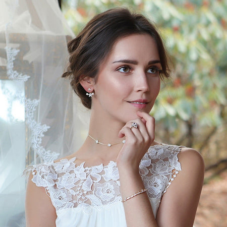 Flora Crystal Ear Jacket - Amy O. Bridal