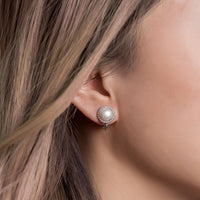 Pearl Stud Clip on Earrings