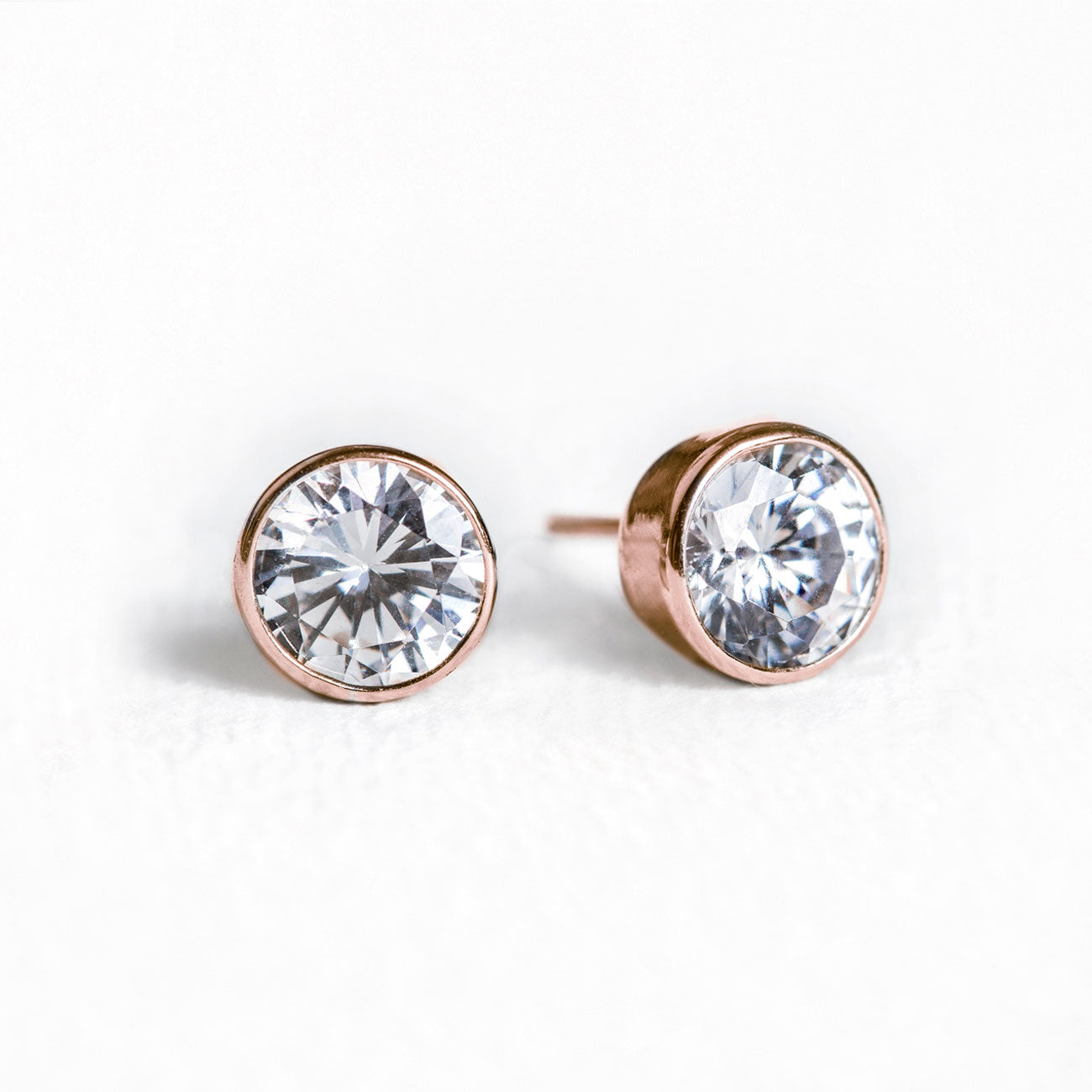 Dakota Solitaire Crystal Stud Earrings