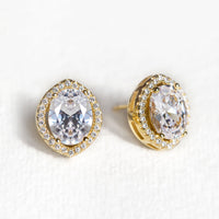 Cleo Crystal Stud Earrings