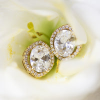 Cleo Crystal Stud Earrings - Amy O. Bridal