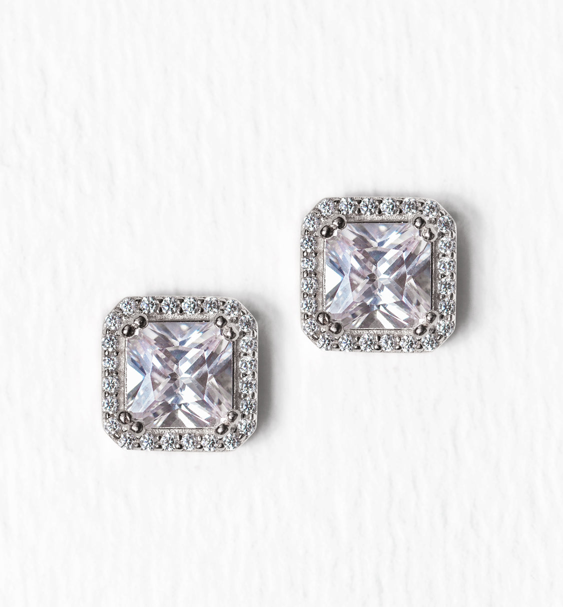 Ella Radiant Stud Earrings - Amy O. Bridal