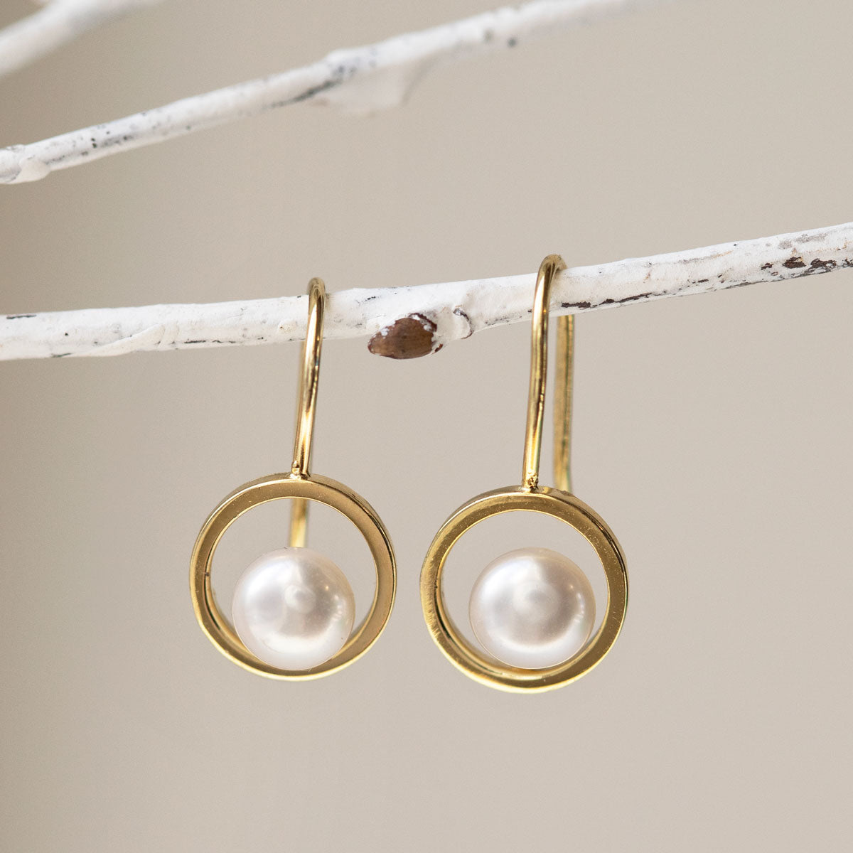 Tiny Pearl Drop Earrings