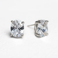 Noelle Solitaire Oval Stud Earrings