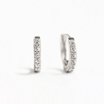 Pave Huggie Earrings