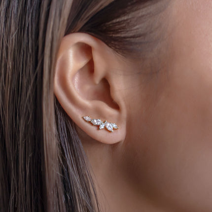 Marquise Ear Climber Earrings