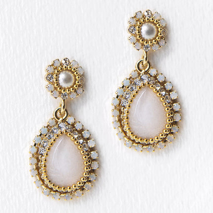 Maria Opal & Moonstone Earrings