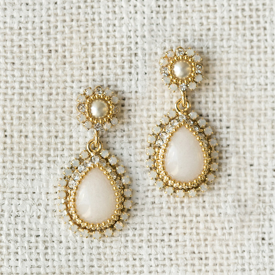 Maria Opal & Moonstone Earrings - Amy O. Bridal