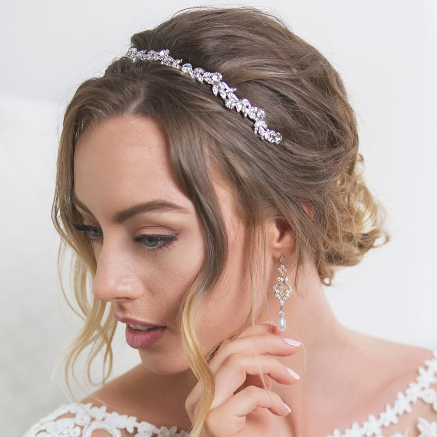 Sabine Floral Headband - Amy O. Bridal