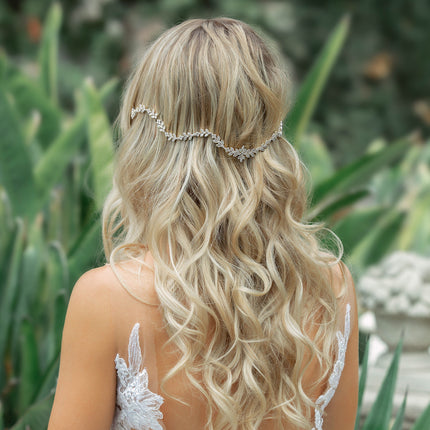 Boho Crystal Leaf Hair Vine