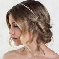 Monet Floral Headpiece with Ribbon Tie - Amy O. Bridal